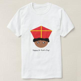 Camiseta Cutieful caçoa a mitra Zwarte Piet de São Nicolau
