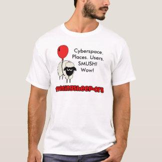 Camiseta Cyberspace. Lugares. Usuários. Manutenção