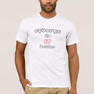 Camiseta cyborgs melhora (o cinza)
