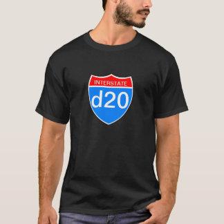 Camiseta D20 de um estado a outro