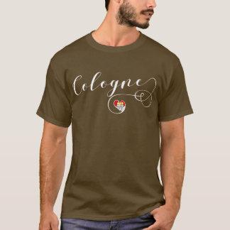 Camiseta da água de Colônia do coração, bandeira