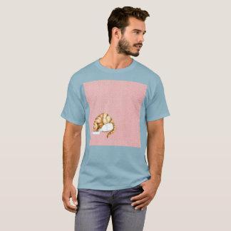 Camiseta Da aguarela alaranjada de Gato do leite t-shirt