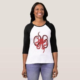 Camiseta da arte da criatura do mar do t-shirt do