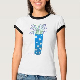 Camiseta da arte: Vaso e Bluebells manchados