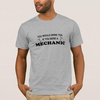 Camiseta Da bebida mecânico demasiado -