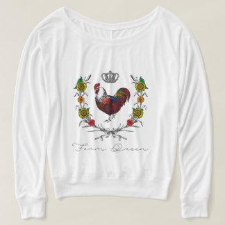 """Camiseta Da """"camisa da rainha fazenda"""" das mulheres por"""