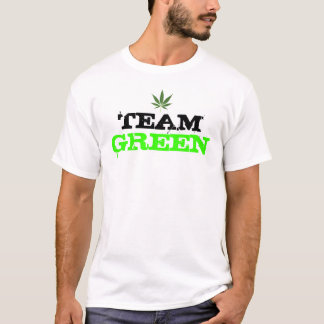 "Camiseta Da ""camisa verde da erva daninha t equipe"""
