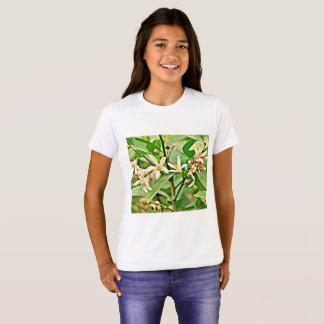 Camiseta da campainha da menina - flores de Apple