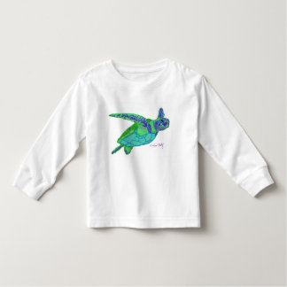Camiseta da criança da tartaruga de mar