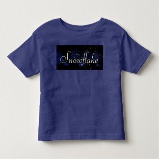 Camiseta da criança do floco de neve