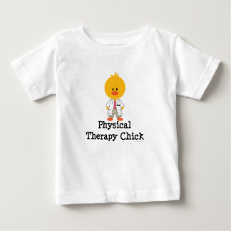 Camiseta da criança do pintinho da fisioterapia