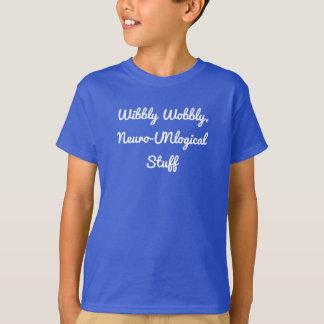 Camiseta Da criança neuro-UNlogcial do material de Wibbly a