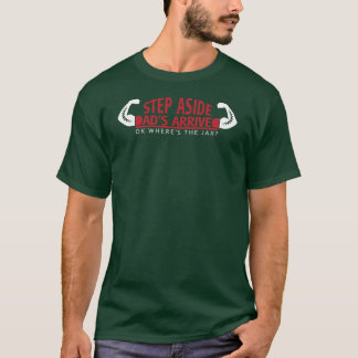 Camiseta Da etapa pai de lado chegado - Red&White ou