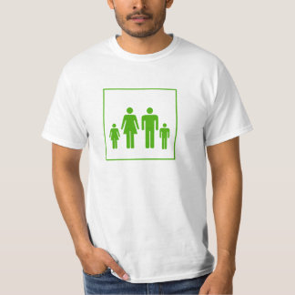 Camiseta da etiqueta da família - homens