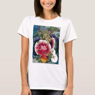 Camiseta Da fruta da melancia da uva de Apple vida ainda