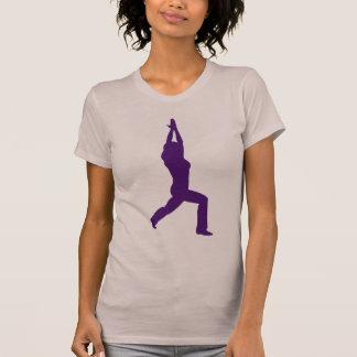 Camiseta da ioga da pose do guerreiro da ioga