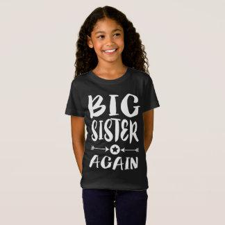 Camiseta Da irmã mais velha t-shirt mais velho do presente