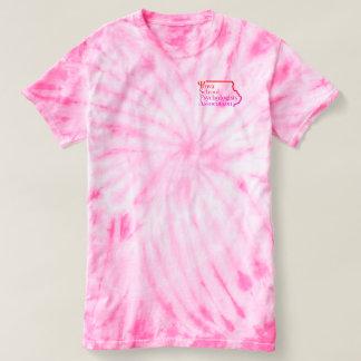 Camiseta da Laço-Tintura da psicologia da escola