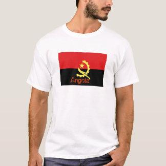 Camiseta da lembrança da bandeira de Angola