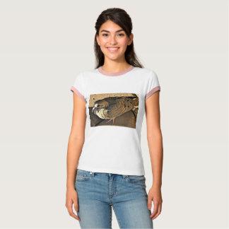 Camiseta da luva do Short da pomba das mulheres