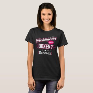 Camiseta Da mais importante que box?