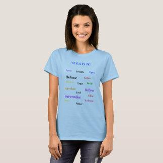 Camiseta da malhação do exercício da ioga