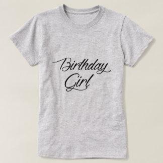 Camiseta da menina do aniversário