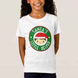 Camiseta Da menina pequena do ajudante do papai noel o