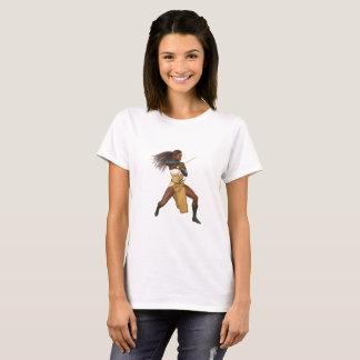 Camiseta da mulher do guerreiro