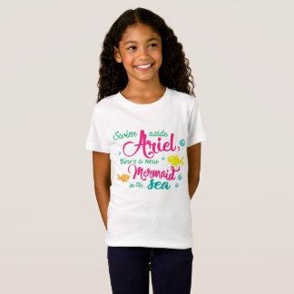 Camiseta Da natação sereia de lado