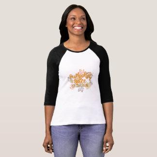"""Camiseta Da """"O t-shirt das mulheres da especiaria abóbora"""