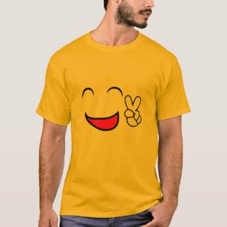 Camiseta Da paz traje do grupo do Emoticon para fora