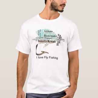 Camiseta da pesca com mosca