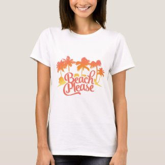 Camiseta Da praia das mulheres engraçadas das citações por