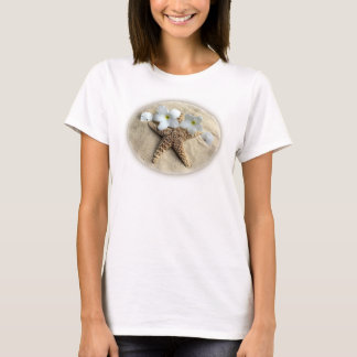 Camiseta Da praia vida ainda - estrela do mar, dólar de