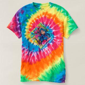 camiseta da ROTAÇÃO da ti-tintura dos anos 70