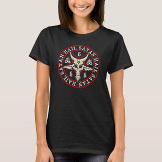"Camiseta Da ""satã"" Baphomet saraiva no Pagan do Pentagram"