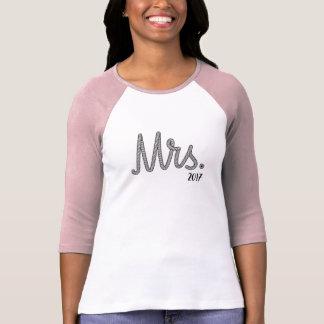 Camiseta Da Sra. Noiva presente 2017 de casamento