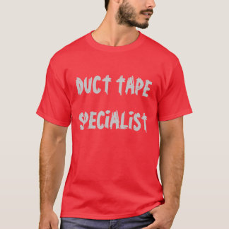 """Camiseta Da """"t-shirt do especialista fita adesiva"""""""