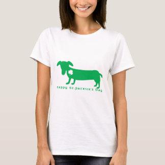 Camiseta Dachshund do dia de St Patrick feliz