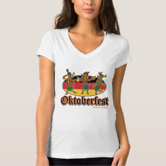 Camiseta Dachshunds da dança de Oktoberfest