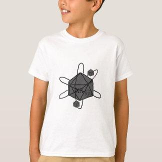 Camiseta Dado-Átomo (esboce tudo preto) (dentro de todas as