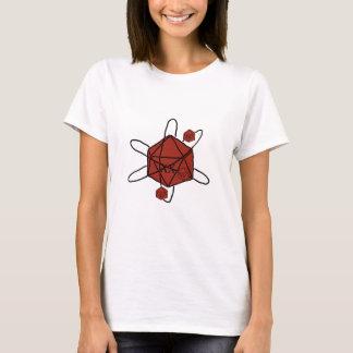 Camiseta Dado-Átomo (preto, vermelhos)