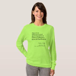 Camiseta Dador de órgãos do reciclar você mesmo de Hashtag