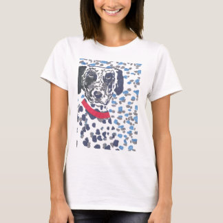 Camiseta Dalmatian pesadamente manchado