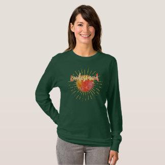 Camiseta Dama de honra alaranjada do Sunburst da mandala do