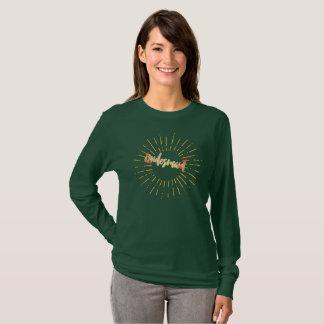 Camiseta Dama de honra alaranjada do Sunburst do sorvete