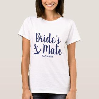 Camiseta Dama de honra da âncora do companheiro da noiva