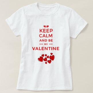 "Camiseta Damas alpargata ""KEEP CALM AND MY VALENTINE """