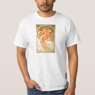 Camiseta Dança - arte Nouveau - Alphonse Mucha do vintage